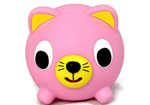 Sankyo Toys Jabber Ball Squeeze and Sound Play Ball - Pink Cat