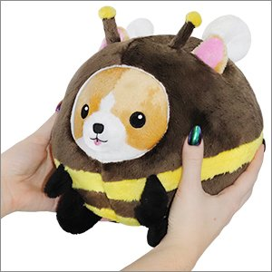 "Squishable Undercover Corgi in Bee Disguise - 7"" Plush"
