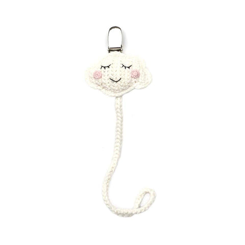 Cheengoo Hand Crocheted Pacifier Clip - Cloud