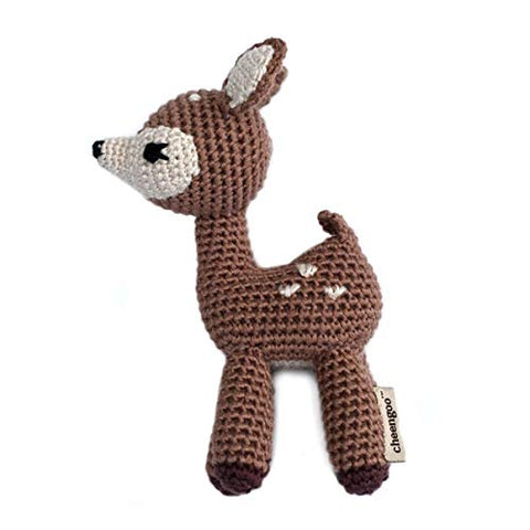 Cheengoo Organic Hand Crocheted Rattle - Fawn