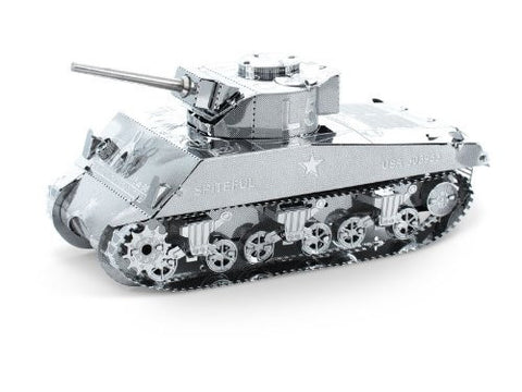 Fascinations Metal Earth 3D Laser Cut Model Silver Edition - Sherman Tank (2 Sheets)