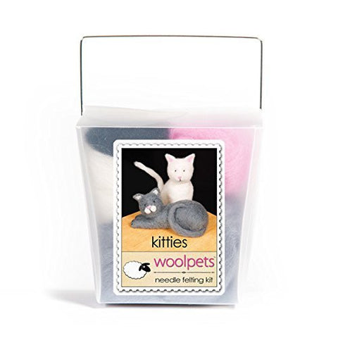 WoolPets Easy Needle Felting Kit - Kitties