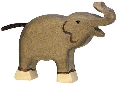 Holztiger Little Elephant with Trunk Raised Wood Toy