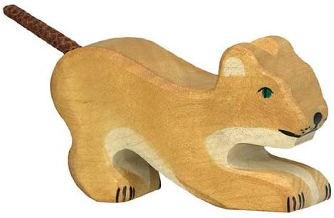FBM New Holztiger Little Lion Playing Toy Figure