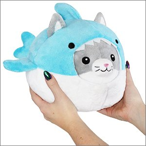 "Squishable Mini - Undercover Kitty in Shark - 7"" Plush"