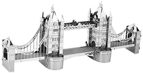 Fascinations Metal Earth 3D Laser Cut Model Silver Edition - London Tower Bridge (2 Sheets)