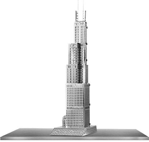 Iconx 3D Metal Model Kit - Sears Tower - One Sheet