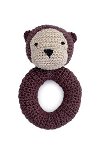 Cheengoo Organic Hand Crocheted Otter Ring Rattle