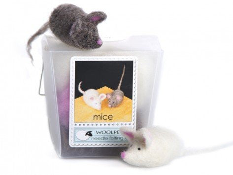 WoolPets Needle Felting Kit - Mice