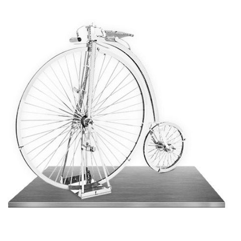 Metal Earth 3D Laser Cut Model Silver Edition - High Wheel Bicycle (2 Sheets)