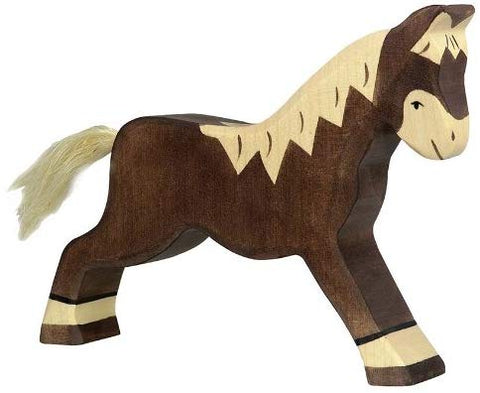 Holztiger Wooden Brown Horse