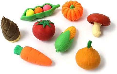 BC Mini Iwako Japanese Puzzle Eraser Set - 8 Vegetables