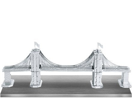 Fascinations Metal Earth 3D Laser Cut Model Silver Edition - Brooklyn Bridge (2 Sheets)