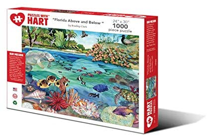 Hart Puzzles 1000 Piece Jigsaw Puzzle - Florida Above and Below by Bradley Clark