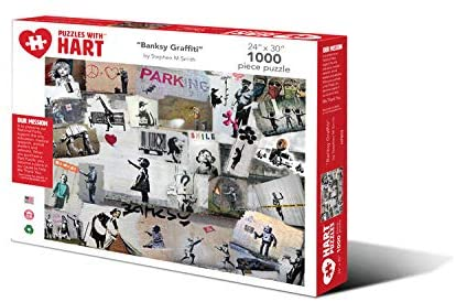 Hart Puzzles 1000 Piece Jigsaw Puzzle - Banksy Graffiti by Stephen M. Smith
