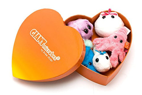 Giant Microbes Heart Warming Gift Box with 5 Mini Microbes