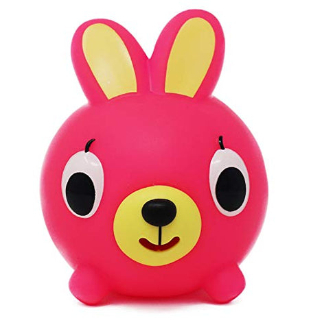 Sankyo Toys Jabber Ball Squeeze and Play Sound Ball - Neon Pink Bunny