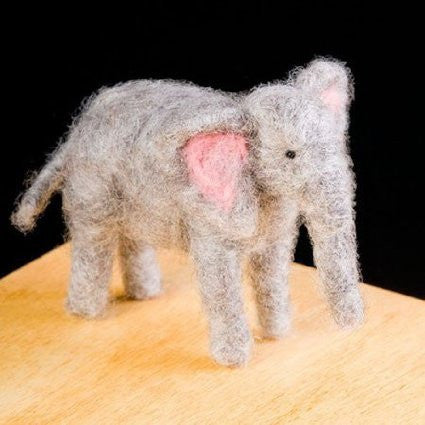WoolPets Intermediate Needle Felting Kit - Elephant