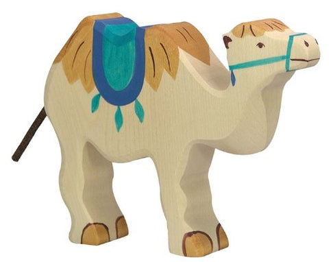 Holztiger Camel with Saddle Toy Figure