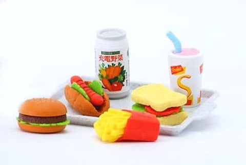 BC Mini Iwako Japanese Eraser Set - Fast Food Assortment
