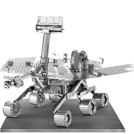 Fascinations Metal Earth 3D Laser Cut Model Silver Edition - Mars Rover (2 Sheets)