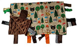 "Baby Jack Satin Sensory Baby Lovey with Ribbon Tabs - 14""x18"" Forest Animals"