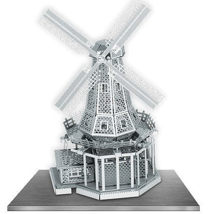 Fascinations Metal Earth 3D Laser Cut Model Silver Edition - Windmill (2 Sheets)