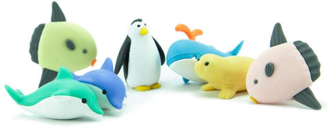 BC Mini Iwako Japanese Puzzle Eraser Set - Sea Life