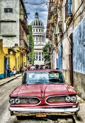 Educa Children's 1000 Vintage car in Old Havana Puzzle