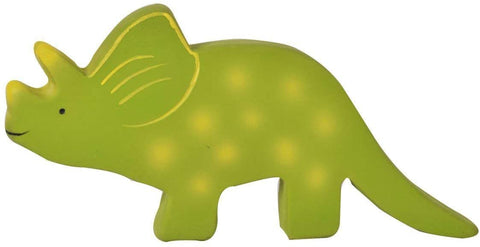 Tikiri My First Dino Natural Rubber Bath Toy - Baby Triceratops