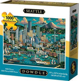 Dowdle Folk Art Seattle 1000 Piece Jigsaw Puzzle