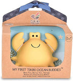 Tikiri My First Ocean Buddies Natural Rubber Rattle and Bath Toy - Crab