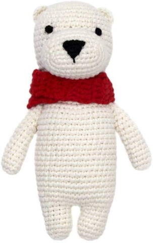 Cheengoo Organic Bamboo Hand Crocheted Mini Doll - Pat the Polar Bear