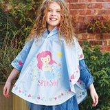 Floss & Rock Magic Color Changing Kids Hooded Rain Poncho - Mermaid