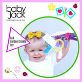 Baby Jack Blankets Lovey Chew Blanket Crinkle Toy Tag Square Sensory Toy (Flower Garden)