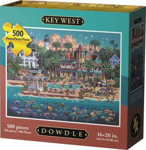 Key West Florida Puzzle 500 Piece by Dowdle Folk Art