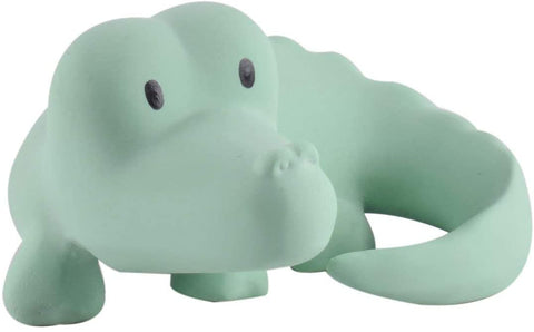 Tikiri Toys My First Safari Zoo Natural Rubber Baby Toy - Crocodile Rattle