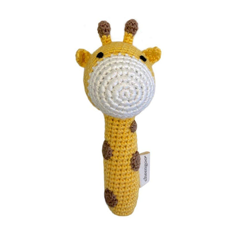 Cheengoo Organic Crocheted Stick Rattle - Giraffe