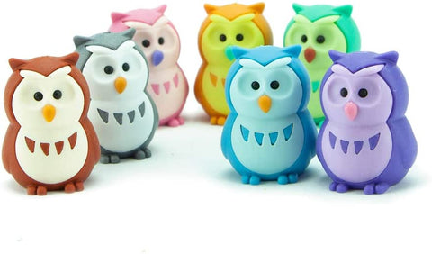 BC Mini Iwako Japanese Puzzle Eraser Set - 7 Owls