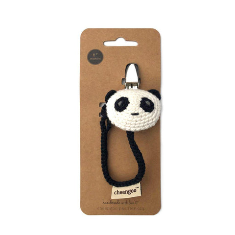 Cheengoo Hand Crocheted Pacifier Clip - Panda