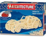 Bojeux Matchitecture Wood Microbeam Construction Set - Antique Car