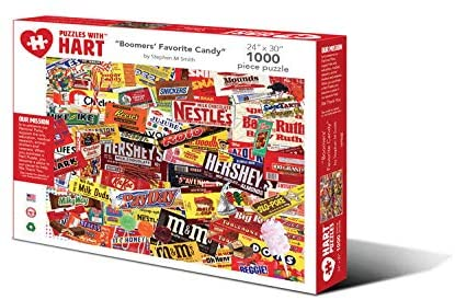 Hart Puzzles 1000 Piece Jigsaw Puzzle - Boomers' Favorite Candy by Stephen M Smith