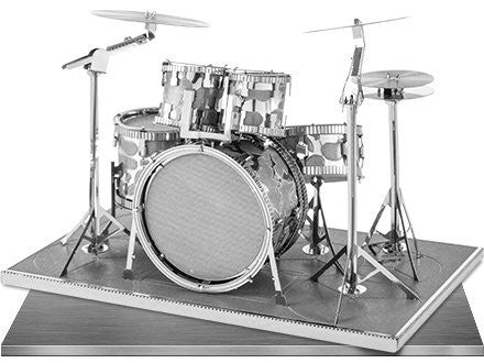Iconx 3D Metal Model Kit Silver Edition - Drum Set - Two Sheets