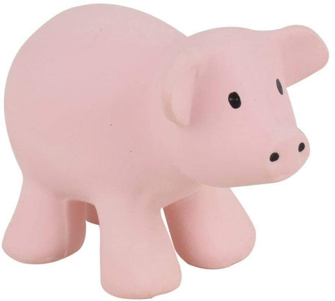Tikiri My First Farm Natural Rubber Rattle and Bath Toy - PIg