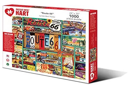 Hart Puzzles 1000 Piece Jigsaw Puzzle - Route 66 by Kate Ward Thacker