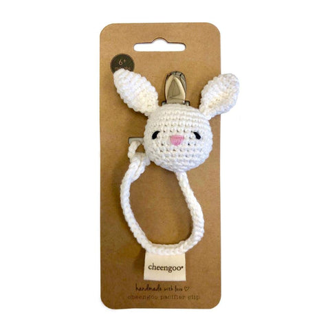 Cheengoo Hand Crocheted Pacifier Clip - Bunny