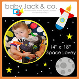 Baby Jack Lovey Security Baby Blanket Sensory Tag Toy Learning Lovey - Outer Space