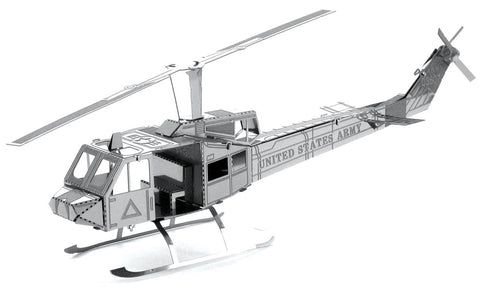 Fascinations Metal Earth Huey UH-1 Helicopter 3D Metal Model Kit