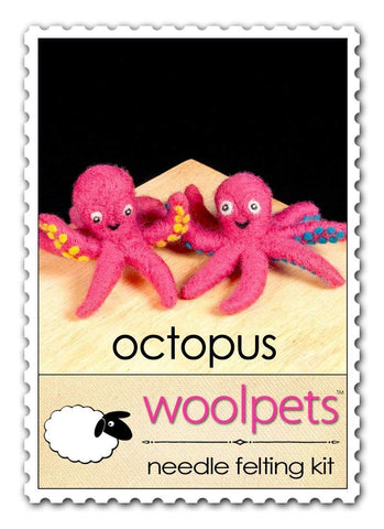 WoolPets Needle Felting Kit - Octopus (Makes 2)