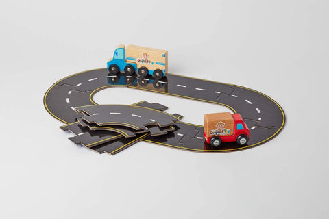 The Original Toy Company Roads To Go! 24-Piece Toy Road Playset
